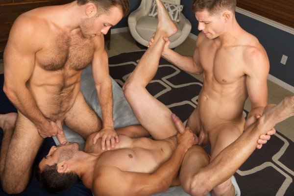 Bareback Threeway with Randy, Dean & Cory - Best Gay Sex