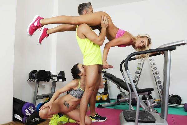 Gym lesbian's crazy big cock fuck at SexyHub.com