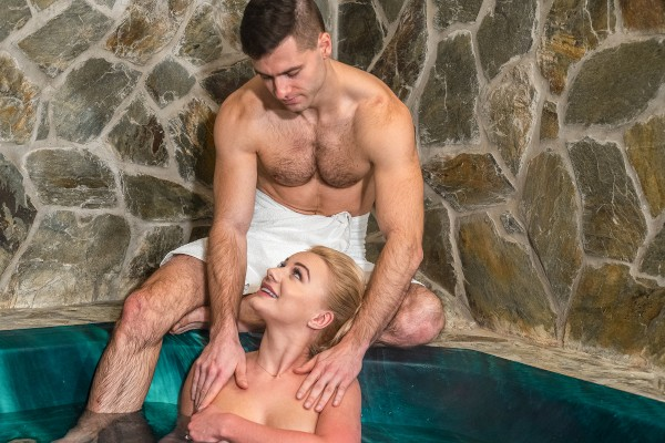 Private massage session in jacuzzi at SexyHub.com