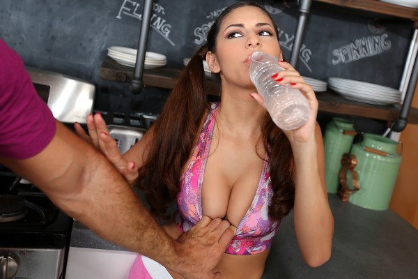 Watch Nina North in All Natural Cutie With Pigtails