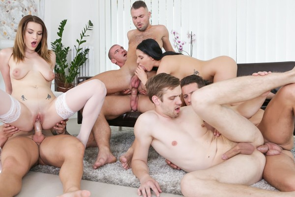 Orgy Mania! Scene 2 Bisexual Orgy on Bi Empire with Blonder