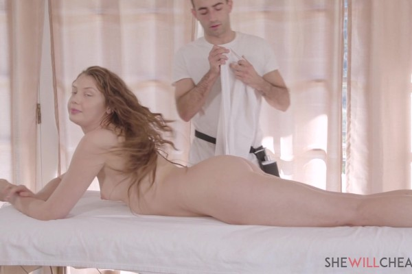 Elena Koshka cheats on her husband with the massage therapist he hired