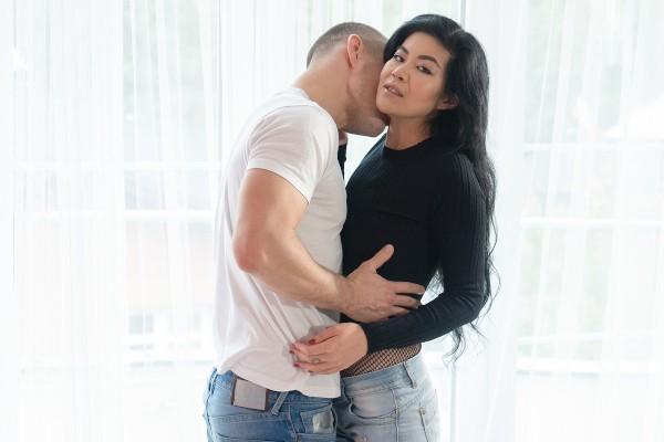 Watch Max Dyor, Akasha Coliun in Hot Asian in sexy fishnet bodysuit