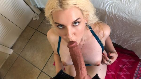 Blonde Rides Boyfriend's Huge Cock