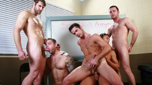 Sex Addicks Anonymous - feat Rocco Reed, Colby Jansen, Trevor Knight, Mike De Marko, Colby Keller