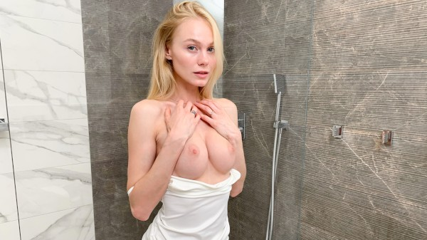 Sexy blonde solo shower orgasms at SexyHub.com