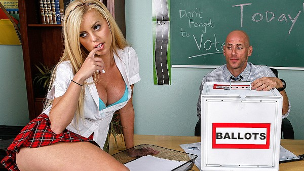 Fucking For School President! - Brazzers Porn Scene