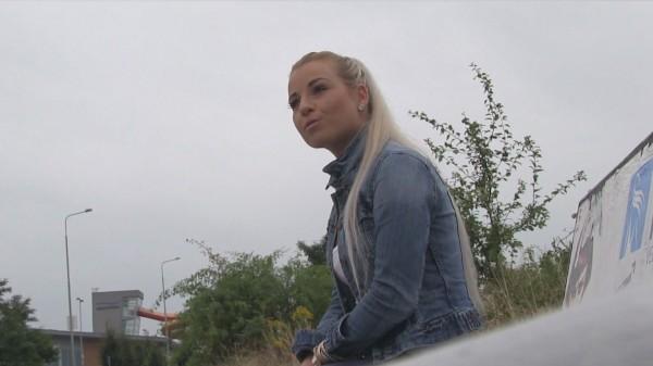 Watch Laura Olar in A Bus Stop Blowjob Turns Into A Public Fuckfest