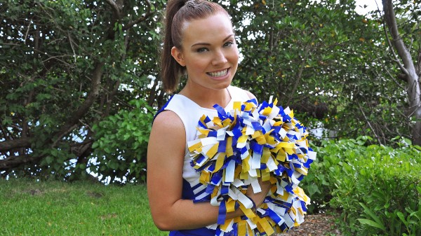 Watch Tiffany Bannister in Cheerleader Teen Home Video