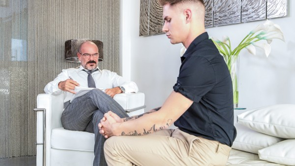 Enjoy His Psychotherapist Scene 4 on Taboomale.com Featuring Jack Dyer, Zak Bishop
