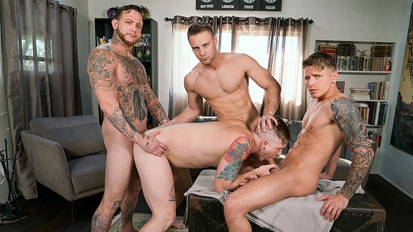 Watch Brandon Evans, Gage Unkut, Tom Faulk, Gunner Canon in Raw Renters, Scene 1
