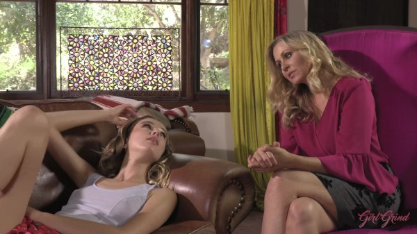 Dirty little Haley Reed talks her milf conversion therapist Julia Ann to fuck!