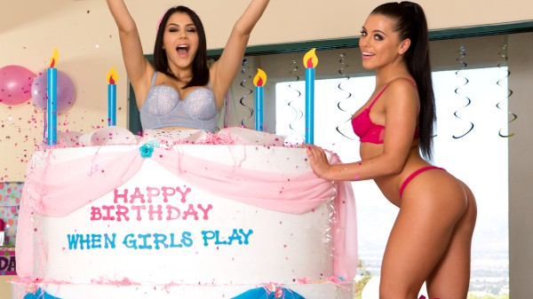 When Girls Play Birthday! - Lezdom Bliss Lesbian Porn Video