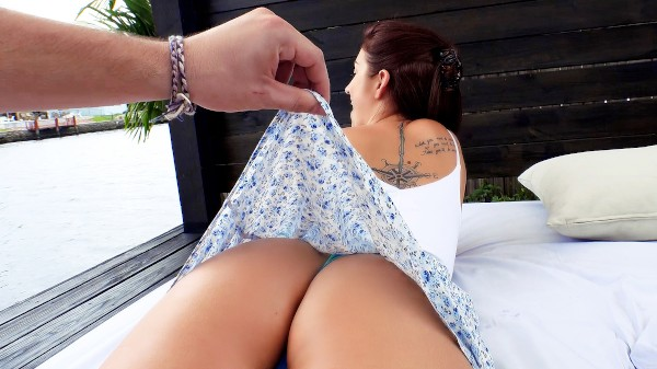 Watch Naiomi Mae in Brunette's Big Booty Fucked Outdoors