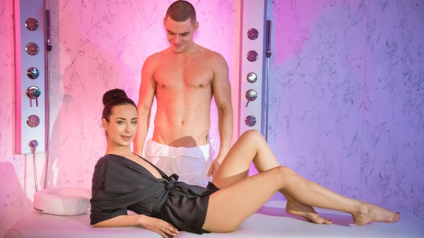 Erotic massage with creampie climax at SexyHub.com