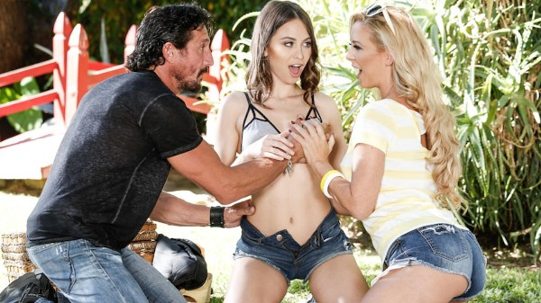 Enjoy Pornoman Go! Scene 2 on Milfed.com Featuring Cherie DeVille, Riley Reid, Tommy Gunn