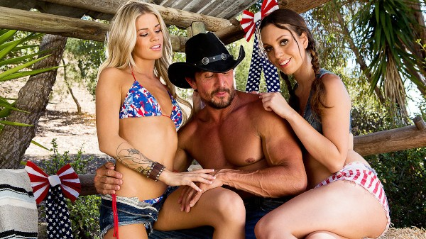 4th of July Cock Ride - Tommy Gunn, Jessa Rhodes, Jade Nile