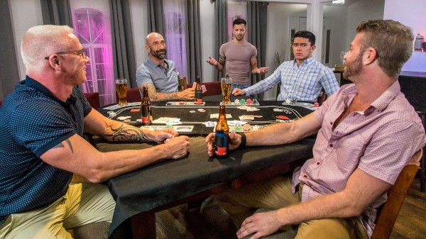 Poker Night Orgy - Casey Everett, Link Parker, Ryan Carter, Drew Sebastian