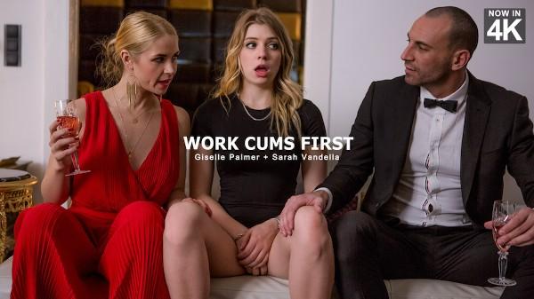 Work Cums First - Sarah Vandella, Giselle Palmer, Stirling Cooper - Babes