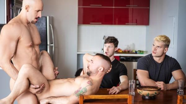 Enjoy Skipping Dinner Uncut on Twinkpop.com Featuring Malik Delgaty, Jeremy London, Finn Harding, Travis Connor