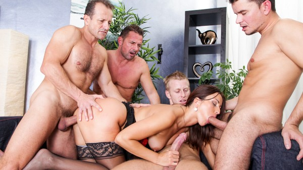 4 On 1 Gang Bangs #02 Scene 3 Porn DVD on Mile High Media with Denis Reed, David Perry, George Uhl, Ricky Silverado, Simone Style