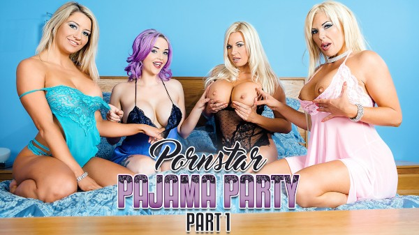 Porn Star Pajama Party Part 1 - Jasmine James, Michelle Thorne, Aaliyah Ca Pelle