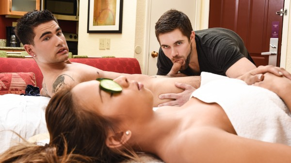 Enjoy Couples Massage on Twinkpop.com Featuring Vadim Black, Griffin Barrows