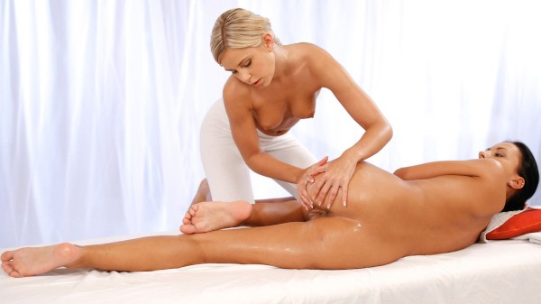 Tanned Beauty Gets Her Pussy Juices Flowing For Blonde at SexyHub.com