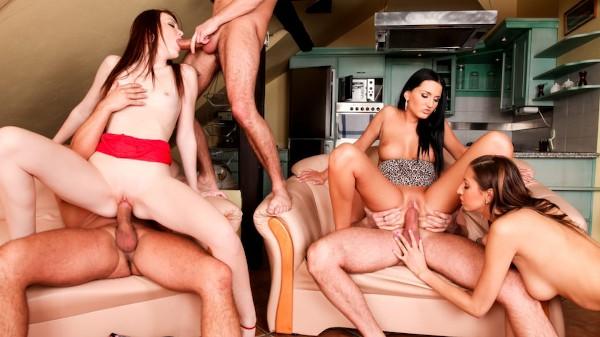 5 Incredible Orgies Scene 1 Porn DVD on Mile High Media with Kitty Jane, Maggies, Neeo, Tiffany