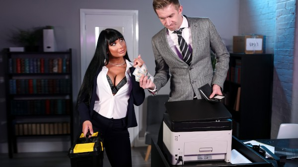 Stuck In The Copier - Brazzers Porn Scene
