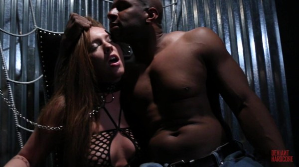 Sexy sub Maddy O'Reilly does everything her buff black Dom asks