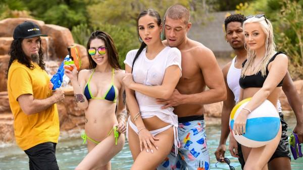 Pool Shy - Brazzers Porn Scene