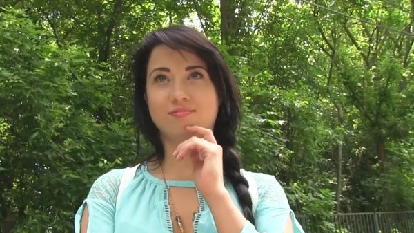Watch Taissia Shanti in Sexy black haired russian fucked in the woods