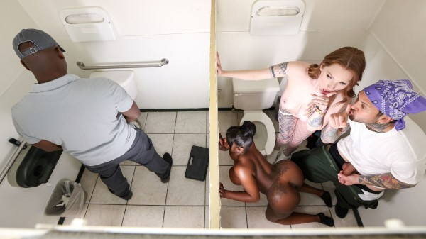 The Road Trip: Gas Station Glory Hole - Brazzers Porn Scene