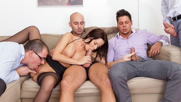 4 On 1 Gang Bangs Scene 3 Porn DVD on Mile High Media with Angelo Godshack, George Uhl, Cindy Dollar, Mark Zicha, Neeo