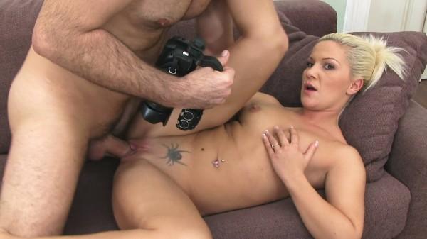 Sexy Blonde Isn't Afraid To Swallow Some Dick To Make It Big ft James* - FakeHub.com