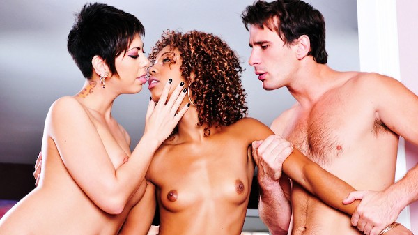 A Love Triangle Scene 4 Porn DVD on Mile High Media with Misty Stone, Satine Phoenix, Manuel Ferrara