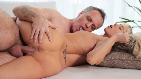 Watch Carla Cox, John Petty in Young Blonde Hottie Sucks A Mature Man's Balls