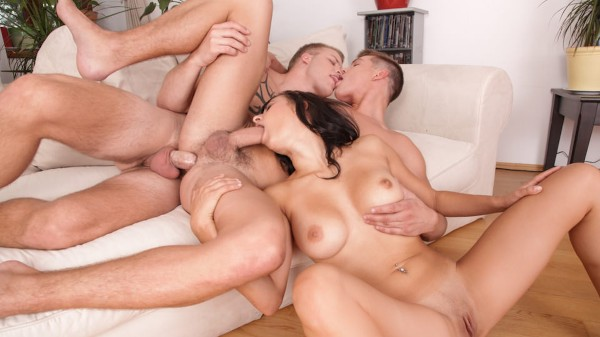 Bi Curious Couples #07 Scene 1 Bisexual Orgy on Bi Empire with Billie Star