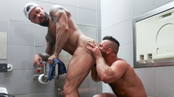 Pup & Tank Have Messy Bareback Sex In Airport Toilet - Pupcheer, Tank Joey
