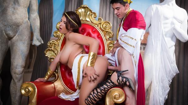 Big Tits In History: Part 2 - Brazzers Porn Scene