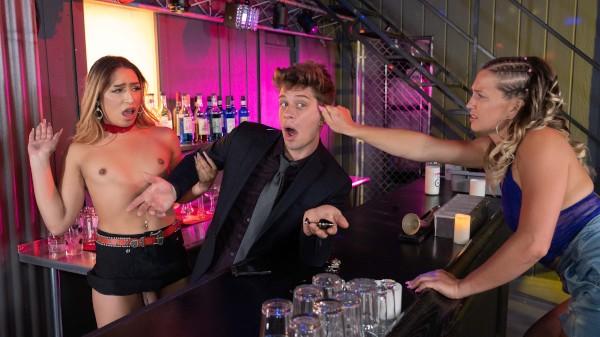 Watch Hardcore Barmaid featuring Michael DelRay, Paradise Transgender Porn