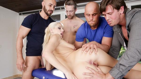 4 On 1 Gang Bangs #06 Scene 3 Porn DVD on Mile High Media with Blanche Bradburry, Neeo, Thomas