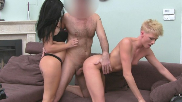 Pixie Haired Hottie Shares Agent's Cock With Brunette ft James* - FakeHub.com
