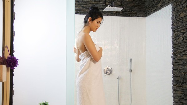 Watch Kristof Cale in Sensual shower sex for sweet lovers