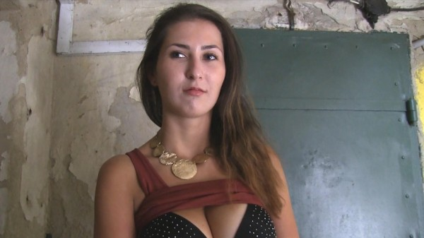 Watch Nicole Thomsons in Big tits brunette fucks for cash in public