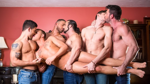 Brandon Wilde's First Gangbang Scene 1 - Billy Santoro, Brandon Wilde, Jack Hunter, Logan Moore, Vadim Black, Jaxton Wheeler