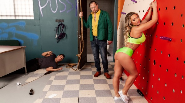 Going Down In A Blaze of Gloryholes - Brazzers Porn Scene