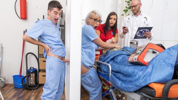 Nurse Gets A Glory Hole Ass Fuck - Brazzers Porn Scene