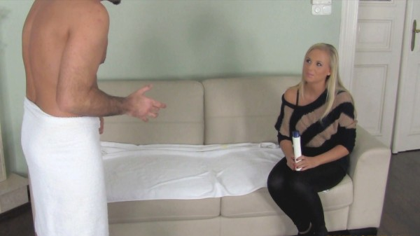 Blonde Massage Babe Gets Handsy With Agent's Dick ft James* - FakeHub.com